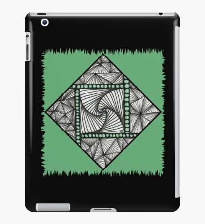 Paradox Tile on Green iPad Case/Skin