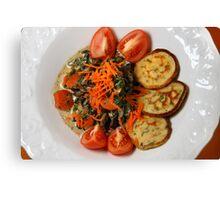 Vegetarian Lunch Canvas Print