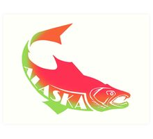ALASKA SALMON ~ cups, mugs, scarves, leggings and more Art Print