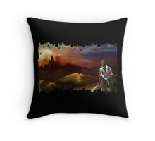 No Fear for the Setting Sun Throw Pillow