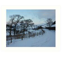 New Radnor snow scene Art Print