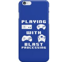Playing With Blast Processing iPhone Case/Skin