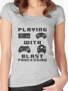 Playing With Blast Processing Women's Fitted Scoop T-Shirt