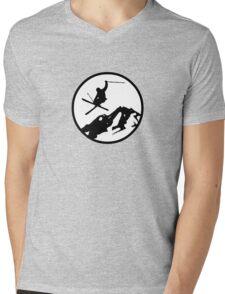 skiing 2 Mens V-Neck T-Shirt