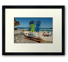 Naked Ladies, Sculptures By The Sea Exhibition 2006 Framed Print