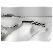 FENCE AND SNOWDUNES  Poster