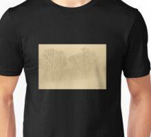 Foggy Sepia Trees Unisex T-Shirt