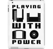 Playing With Power Black iPad Case/Skin