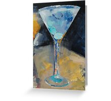 Blue Art Martini Greeting Card