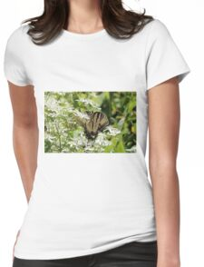 Tiger Swallowtail Butterfly Womens Fitted T-Shirt