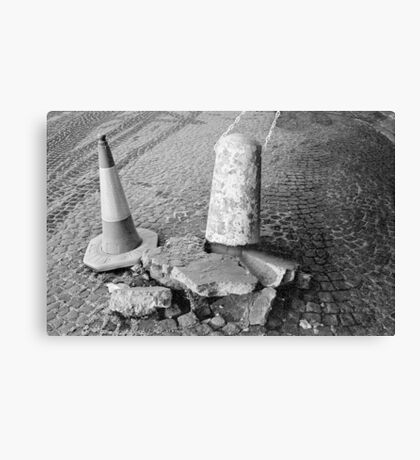Non Identical Bollard Twins  Canvas Print