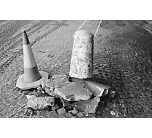 Non Identical Bollard Twins  Photographic Print