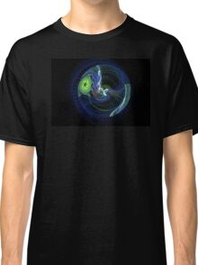 Spirling Flower in a Disc of Blue Lights Classic T-Shirt