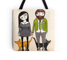 Father's Day with Fur Babies Tote Bag