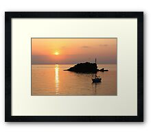 Admiring the sunrise Framed Print