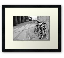 space for one's bike Framed Print