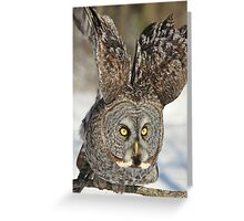 Stand back and watch me go Greeting Card