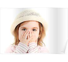 Shocked Little Girl Poster