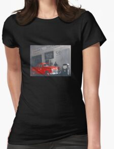 The Old Balmain Garage Womens Fitted T-Shirt