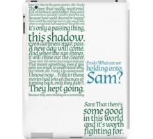 The Two Towers-- Sam's Speech iPad Case/Skin