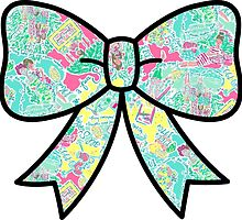 Lilly Pulitzer Inspired Bow In The Beginning by mlr28blu