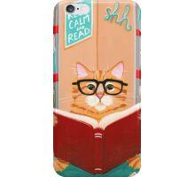 The Library Cat iPhone Case/Skin
