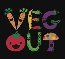 Veg Out - light colors Baby Tee