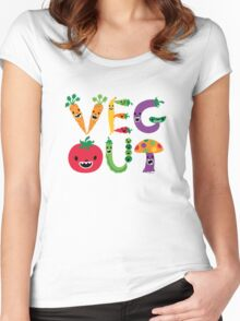 Veg Out - light colors Women's Fitted Scoop T-Shirt