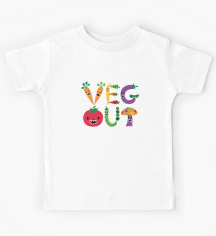 Veg Out - light colors Kids Clothes