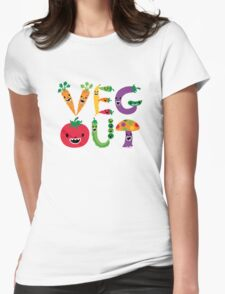 Veg Out - light colors Womens Fitted T-Shirt