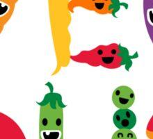 Veg Out - light colors Sticker