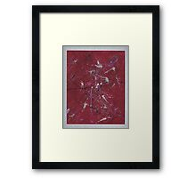 Movement in Pink Framed Print