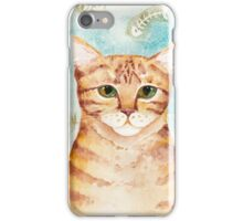 Watercolor Ginger Tabby iPhone Case/Skin