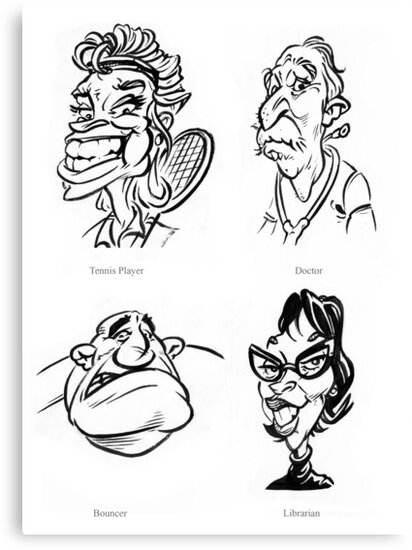 Caricature Sketches 3 by Chris Baker