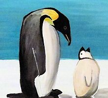 Penguin Love by GroovyGal