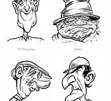 Caricature Sketches 1 by Chris Baker