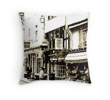 Dartmouth Shops, South Devon, UK Throw Pillow