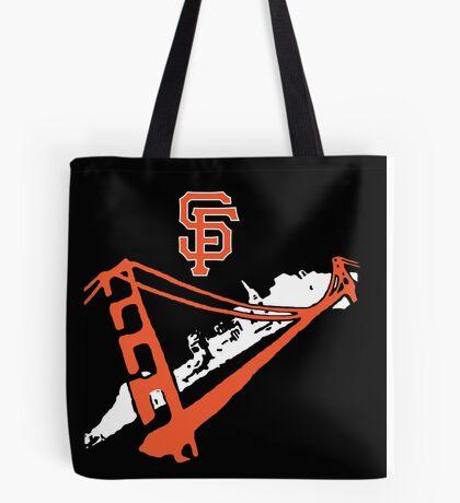 San Francisco Giants Stencil White Tote Bag