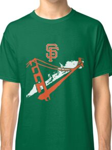 San Francisco Giants Stencil White Classic T-Shirt