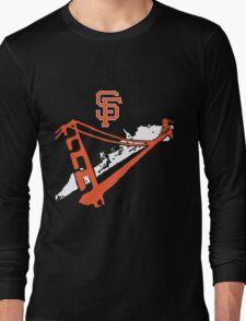 San Francisco Giants Stencil White Long Sleeve T-Shirt