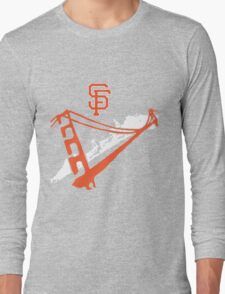 San Francisco Giants Stencil White Long Sleeve T-Shirt