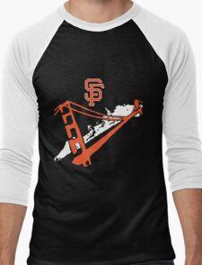 San Francisco Giants Stencil White Men's Baseball ¾ T-Shirt