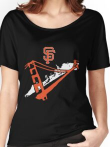 San Francisco Giants Stencil White Women's Relaxed Fit T-Shirt
