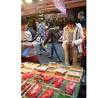 Buying octopus in Tokyo Photographic Print