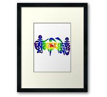 Om Mani Padme Hum - Rainbow Framed Print
