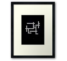 Doctor Who: Gallifreyan Scrabble Framed Print