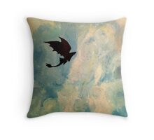 Toothless in the Sky Throw Pillow
