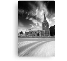 Skyward Church BW Canvas Print