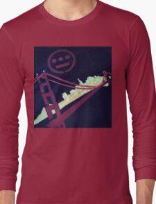 Stencil Golden Gate San Francisco Long Sleeve T-Shirt