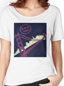 Stencil Golden Gate San Francisco Women's Relaxed Fit T-Shirt